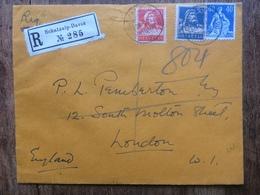 SWITZERLAND - 1925 Registered Schatzalp-Davos To London - Switzerland