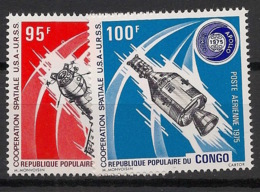 Congo - 1975 - Poste Aérienne PA N°Yv. 208 à 209 - Coopération Spatiale - Neuf Luxe ** / MNH / Postfrisch - Afrika