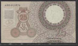 Netherlands  25 Gulden 10-4-1955 - NO: ADD 051679  - See The 2 Scans For Condition.(Originalscan ) - [2] 1815-… : Koninkrijk Der Verenigde Nederlanden