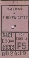 Biglietto Ferroviario - Salemi - Santa Ninfa - Railway