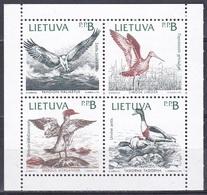 Litauen Lithuania Lietuva 1992 Tiere Fauna Animals Vögel Oiseaux Aves Uccelli Naturschutz Conservation, Mi. 501-4 ** - Litauen