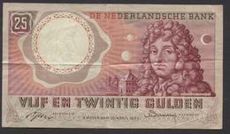 Netherlands  25 Gulden 10-4-1955 - NO: AFU 084810  - See The 2 Scans For Condition.(Originalscan ) - [2] 1815-… : Reino De Países Bajos