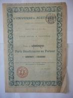L'Universel ACETYLENE 1899    NANTERRE - Shareholdings