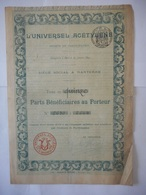 L'Universel ACETYLENE 1899    NANTERRE - Aandelen