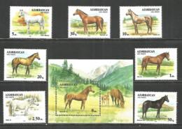 Azerbaijan 1993 Year, Mint Stamps MNH (**) Horses - Azerbaïjan