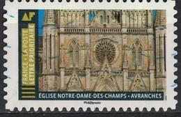 France 2019 Oblitéré Used Histoire De Styles Architecture Église Notre Dame Des Champs Avranches - 2010-.. Matasellados
