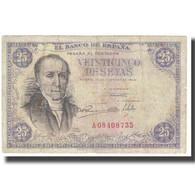 Billet, Espagne, 25 Pesetas, 1946, 1946-02-19, KM:130a, TB - [ 3] 1936-1975: Franco