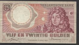 Netherlands  25 Gulden 10-4-1955 - NO: AEN 070319  - See The 2 Scans For Condition.(Originalscan ) - [2] 1815-… : Reino De Países Bajos