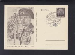 Dt. Reich Bild-PK Elsass Abzeichen Sonderstempel Strassburg 1941 - Deutschland