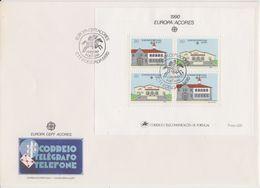 Europa Cept 1990 Azores M/s FDC (F7820) - 1990