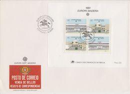 Europa Cept 1990 Madeira M/s FDC (F7821) - Europa-CEPT