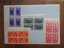 REGNO - 4 Quartine Nuove ** + Spese Postali - 1900-44 Vittorio Emanuele III