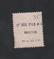 Faux Pub Au Dos Sée Fils Banquiers N° 38 40 C Cérès Oblitéré - 1870 Siège De Paris