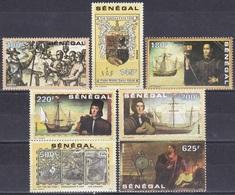 Senegal 1991 Geschichte History Entdeckungen Discovery Kolumbus Columbus Schiffe Ships Indianer Indians, Mi. 1139-5 ** - Sénégal (1960-...)