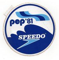 1981 YUGOSLAVIA, BELGRADE, SPEEDO, PEP'81, SPONSOR , EUROPEAN SWIMMING COMPETITION - Stickers