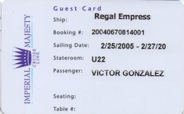 Carte De Croisière : Imperial Majesty Cruise Line 2005 - Autres