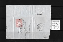 1854-1862 Helvetia (Ungezähnt) Strubel → Brieffragment LUGANO Nach FAIDO  ►SBK-24B3.IV Randstück◄ - Lettres & Documents