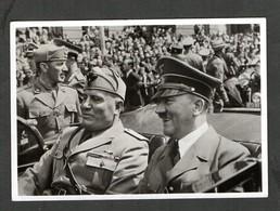 S/w Ak M= München- Serie,  Photo Hoffmann, Nr. M 3, Mussolini Besuch! - Briefe U. Dokumente