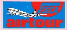 Sticker - SECA - Airtour - SABENA - 1977 - Autocollants