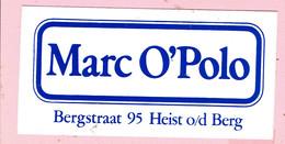 Sticker - Marc O'Polo - Bergstraat 95 Heist O/d Berg - Autocollants