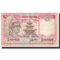 Billet, Népal, 5 Rupees, KM:30a, TTB - Népal