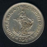 Südafrika, 10 Cents 1964, Silber, UNC - South Africa
