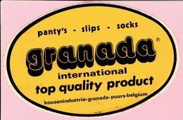 Sticker - GRANADA Intern. Top Kousenindustrie PUURS - Panty's-slips-socks - Autocollants