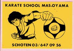 Sticker - KARATE SCHOOL MAS.OY AMA - Schoten - Autocollants
