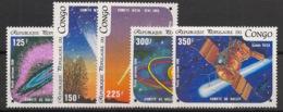 Congo - 1986 - Poste Aérienne PA N°Yv. 343 à 347 - Comète De Halley - Neuf Luxe ** / MNH / Postfrisch - Afrika