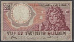 Netherlands  25 Gulden 10-4-1955 - NO: BGH 101447  Replacement  - See The 2 Scans For Condition.(Originalscan ) - [2] 1815-… : Koninkrijk Der Verenigde Nederlanden