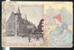 CPA Markirch ( Altes Rathhaus ) Sainte Marie Aux Mines 1904 - Publicité