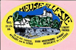 Sticker - MEUSE Et LESSE - Rue Caussin Anseremme Dinant - Libert Frères - Autocollants