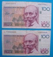 BELGIQUE 2x 100 Francs 1982/1994 - [ 2] 1831-... : Regno Del Belgio