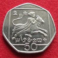 Cyprus 50 Cents 1994 KM# 66 Chipre Zypern - Cyprus