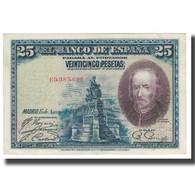 Billet, Espagne, 25 Pesetas, 1928, 1928-08-15, KM:74a, SUP - 1-2-5-25 Pesetas