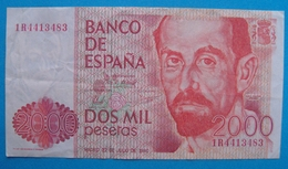 ESPAGNE Billet 2000 Pesetas 1980 Non Circulé - [ 4] 1975-… : Juan Carlos I