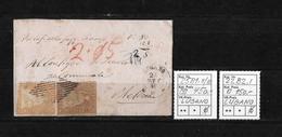 1854-1862 Helvetia (Ungezähnt) Strubel → Nachnahme Buntfrankatur LUGANO ►SBK-25B1.II/III & 22B2.I Randstück◄ - Lettres & Documents