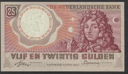 Netherlands  25 Gulden 10-4-1955 - NO: AAZ 006105  - See The 2 Scans For Condition.(Originalscan ) - [2] 1815-… : Koninkrijk Der Verenigde Nederlanden