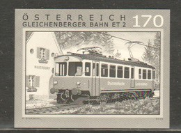 """Österreich 2016: Schwarzdruck """"Gleichenbegrer Bahn"""" Postfrisch (siehe Foto/Scan) - 1945-.... 2nd Republic"""