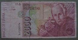 ESPAGNE Billet 2000 Pesetas 1992 - [ 4] 1975-… : Juan Carlos I