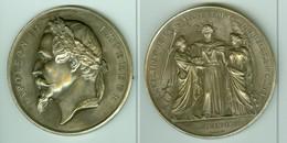 NAPOLEON III ANNEXION DE LA SAVOIE & DU COMTE DE NICE A LA FRANCE 12 JUIN1860. BRONZE ARGENTE. GRAVEUR OUDINE. TTB/SUP - Royaux / De Noblesse
