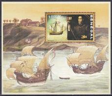Senegal 1991 Geschichte History Entdeckungen Discovery Kolumbus Columbus Schiffe Ships Santa Maria, Bl. 67 ** - Senegal (1960-...)