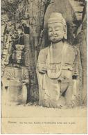 CHINE - CHINA -  HONAN - She Kou Sze Buddha Et Boddhisattva Taillés Dans Les Grés - Cachet De La Poste 1922 - Chine
