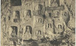 CHINE - CHINA -  HONAN - LUNGMEN L'Intérieur D'une Grotte - Cachet De La Poste 1923 - Chine