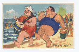 HUMOUR--- Y'A D'LA JOIE--plage  --RECTO / VERSO-- B57 - Humour