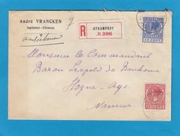 LETTRE RECOMMANDEE DE STRAMPROY POUR MR. LE COMMANDANT,BARON LEOPOLD DE BONHOME A HOGNE - 1891-1948 (Wilhelmine)