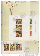 Portugal 1988 Paintings 3 M/s 3 FDC (F7827) - Portugal