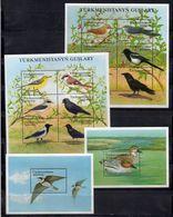 Turkmenistan 2002.  Birds. Mi# Klb.168-173, Klb.174-179, Bl. 22, 23. MNH - Turkmenistan