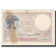 France, 5 Francs, Violet, 1933, P. Rousseau And R. Favre-Gilly, 1933-03-02, TB - 1871-1952 Antiguos Francos Circulantes En El XX Siglo