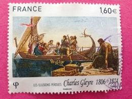 2016, CHARLES GLEYRE OBLITÉRATION RONDE. - France
